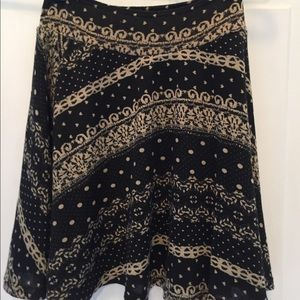 Delia's skirt NWT size small Black and Tan